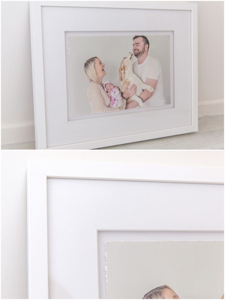 Framed and Matted, Hand Torn Master Fine Art print