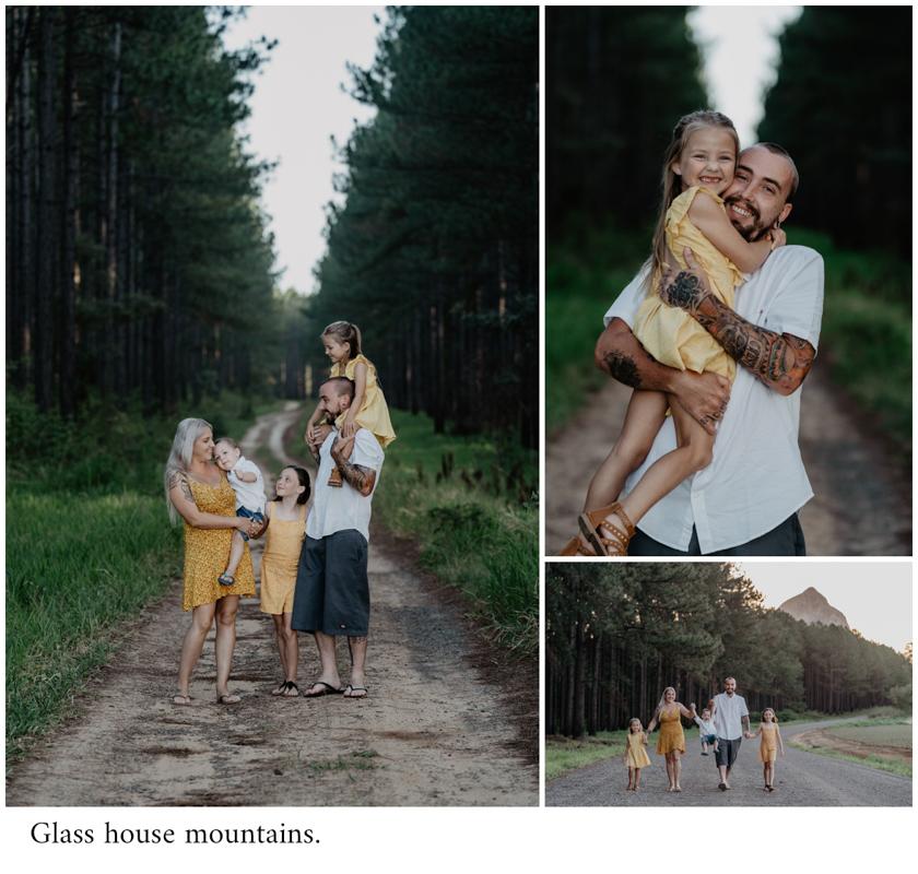 Glass house mountain family photo session