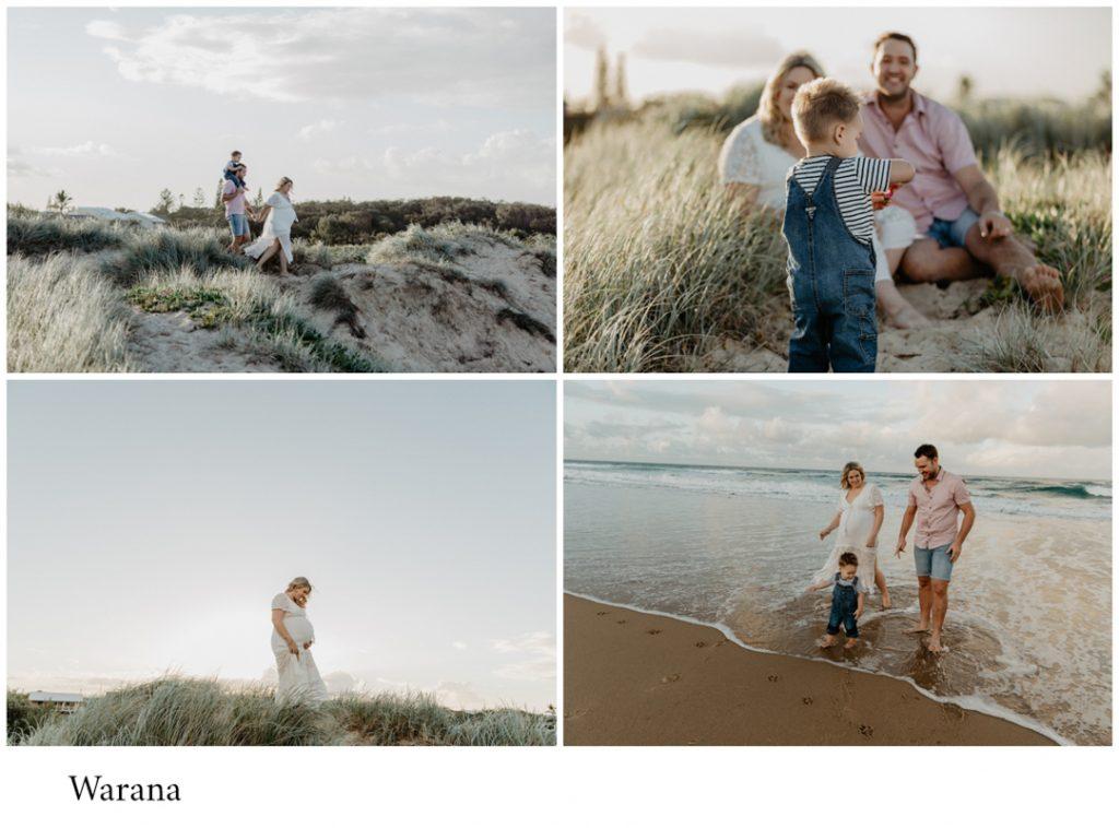 Warana beach family of three